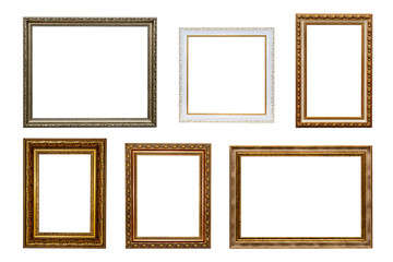 Picture frames. Isolated. White background.