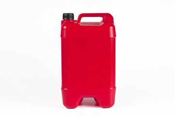 Red plastic jerrycan