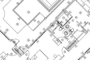 Architectural background, architectural plan, construction drawing
