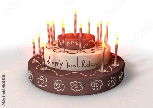 """van harte gefeliciteerd - taart voor verjaardag"""" stock photo and"""