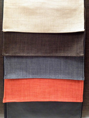 Multi color of fabric samples