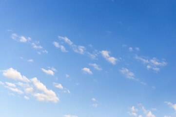 Blue sky white clouds - nature background
