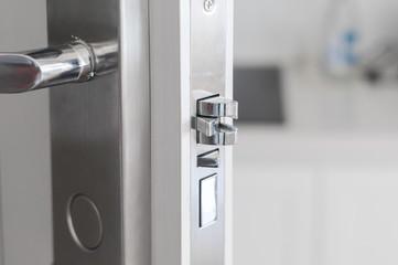 Handle steel knob on the door