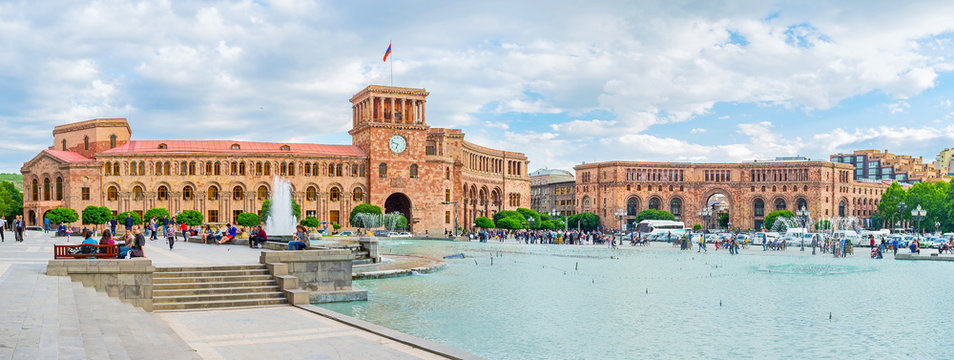 The main square of Yerevan