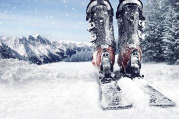 Fototapeta ski time  obraz