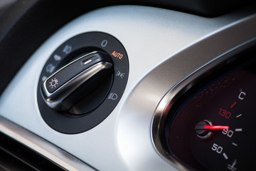 Car headlights button