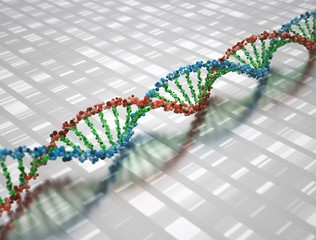 DNA 3D Structure Background Wallpaper