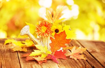 bunte Herbstblumen