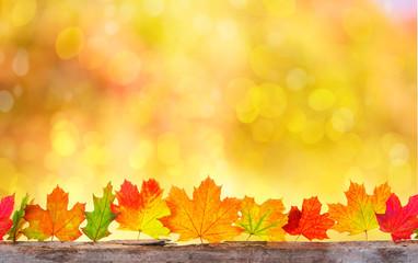 Herbsthintergrund Karte