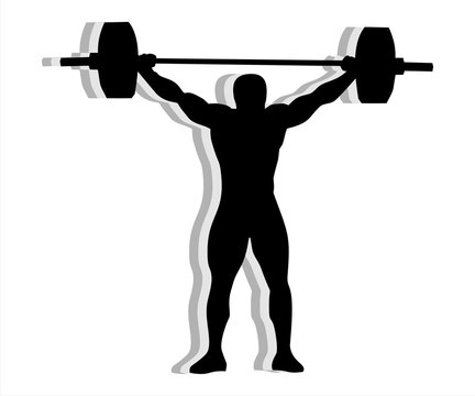 Silhouette weightlifting