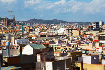 Day view of Barcelona city