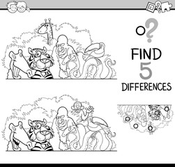 differences activity for coloring