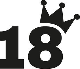 18th Birthday number crown