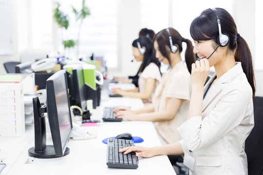 asian operator in the office