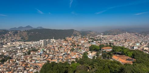 Rio de Janeiro Slums on the Hills