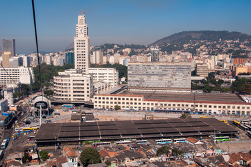 Central Train Station and Bus Terminal of Rio de Janeiro City