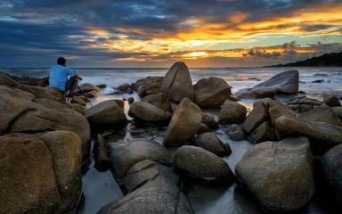 Sunset on the Beach at Thailand