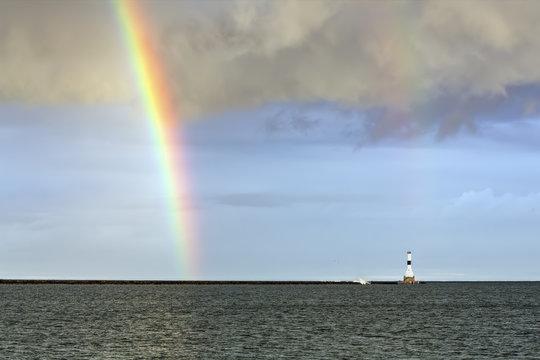 Rainbow and Conneaut Light - Ashtabula, Ohio
