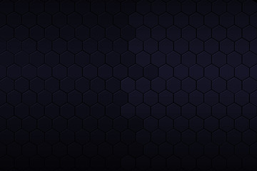 black and blue hexagon