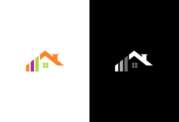 house roof colored company logo