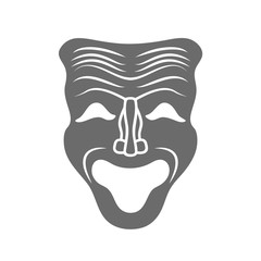 Theatrical masks isolated on white. Vector