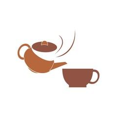 Tea&Coffee logo symbol vector