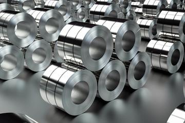 heap of steel rolls