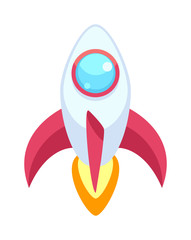 Rocket vector icons isolated