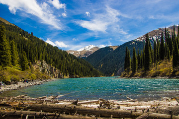 Kolsay Lake in Tien Shan mountain system, Kazakhstan