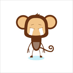 A vector illustration of monkey with different expression
