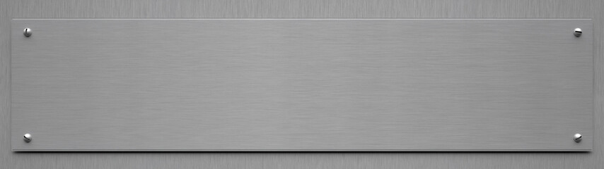 Blank Aluminum Sign - 3D Illustration