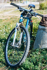 Mountain blue bike
