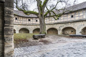 Innenhof der Spitalbastei von Rothenburg ob der Tauber