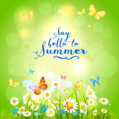 Positive summer backdrop