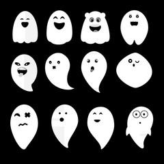 Cute ghosts vector