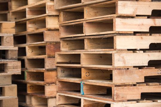 wood pallet stack