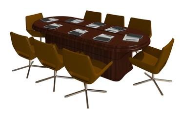 3D Illustration Office Furniture
