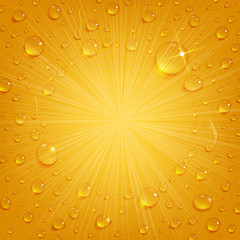 Condensate Drops on Beer Background