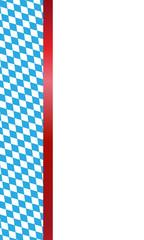 Banner zum Oktoberfest im Hochformat (Rot)