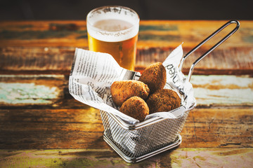 Croquettes and beer