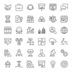 business thin line iconset