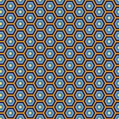 Ethnic boho seamless pattern with hexagons. Print. Repeating background. Cloth design, wallpaper.