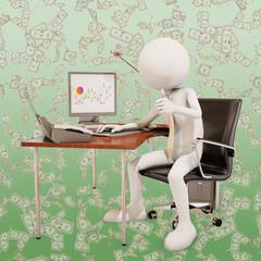 Effective worker, 3d rendering