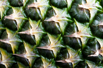 Closeup of pineapple skin.