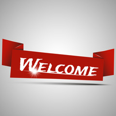Welcome sign. Vector illustration.