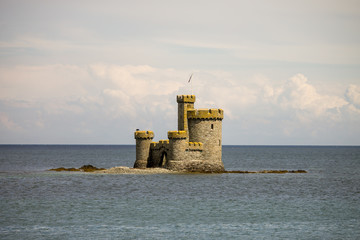 the Tower of Refuge in Douglas bay the Isle of Man