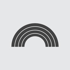Rainbow icon illustration isolated vector sign symbol