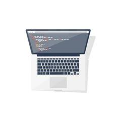 Programming and coding online. Flat style. Web courses. Internet ui design. App development.