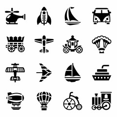 Vector Vehicles icon set