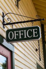 Hanging Black Office Sign